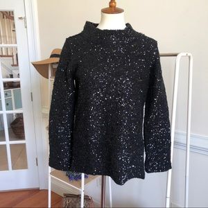 Soft Surroundings black sequined sweater XS